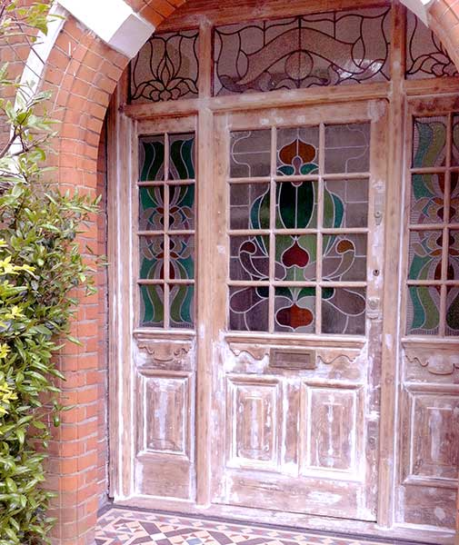 Victorian door, stripped and repaired