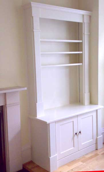 Decorated built-in cabinets