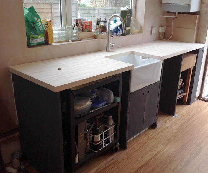 sink and worktop installation
