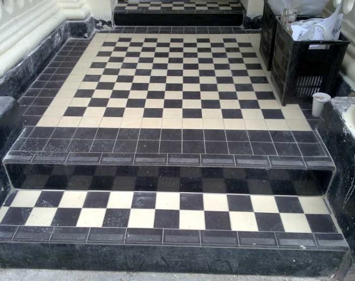 Victorian tiling - exterior